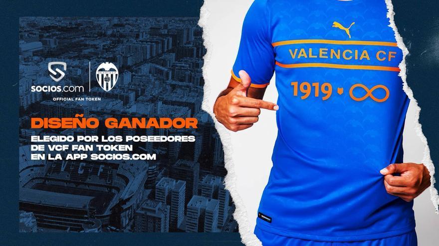El Valencia CF ya tiene nueva camiseta para jugar la Copa del Rey