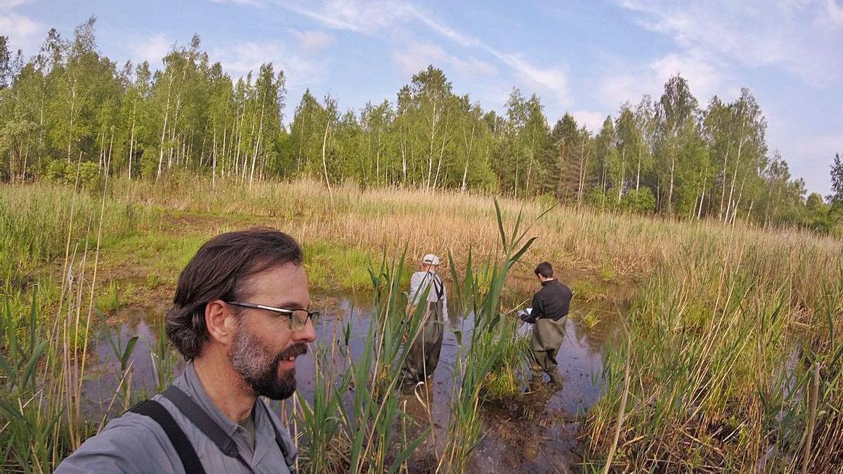 Germán Orizaola, nuna de les sos estancies en Chernóbil. | LNE