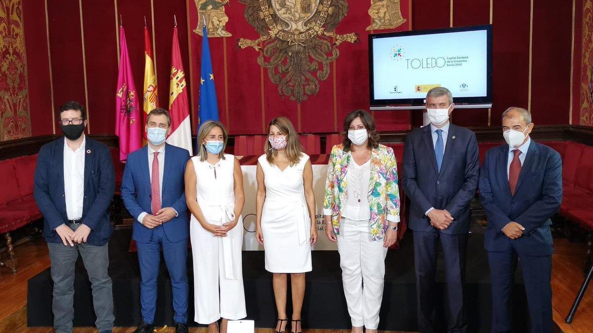 Foto de familia del acto de presentación de Toledo como Capital Europea de la Economía Social.