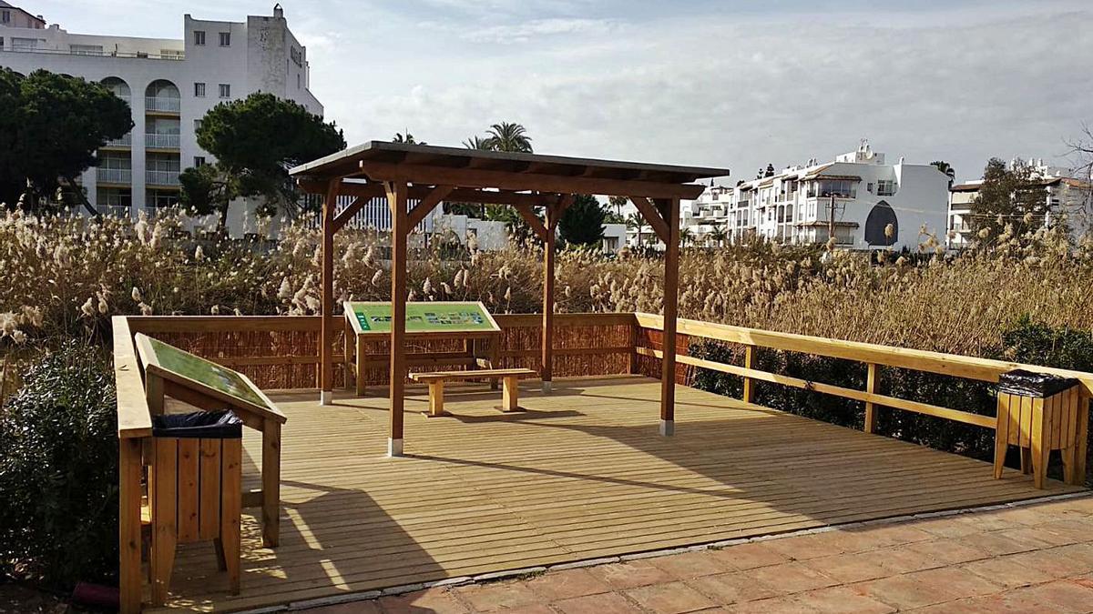 El mirador ornitológico de río Verde, próximo a Puerto Banús. | L. O.