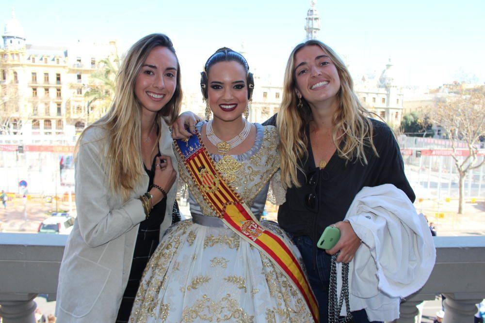 Marina, con dos amigas de toda la vida