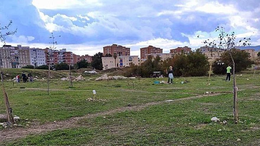Plantación reivindicativa en los terrenos de Repsol