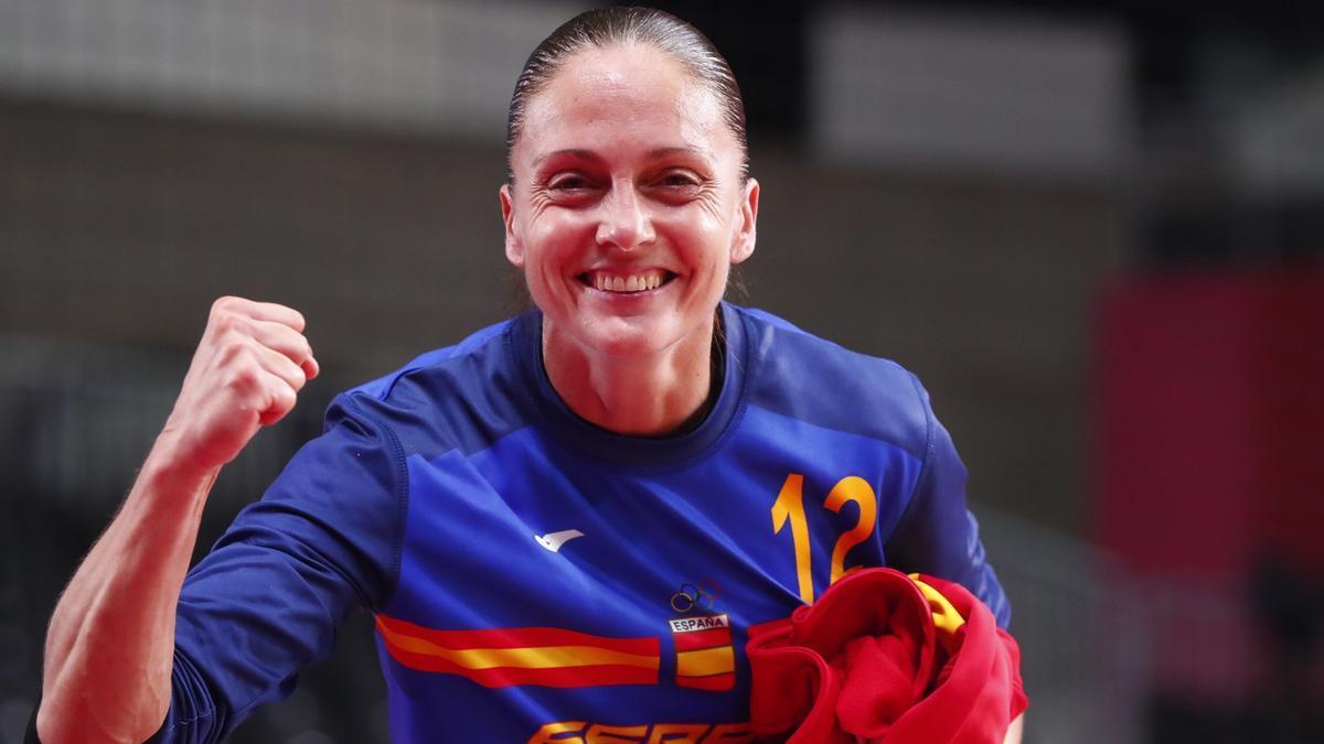 La guardameta de la selección femenina de balonmano Silvia Navarro.