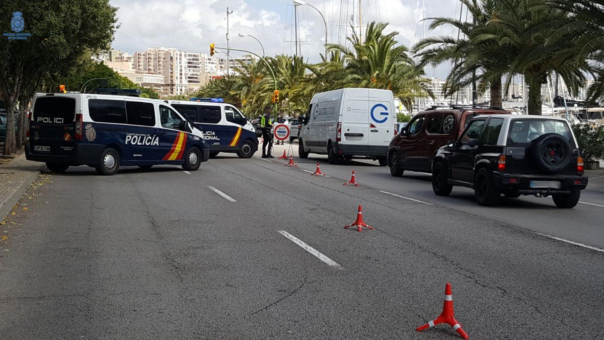 Endurecen los controles en Baleares para garantizar el confinamiento