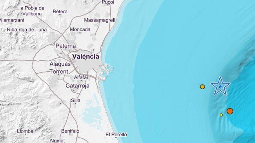 El Golfo de València registra un terremoto de 3,7 grados