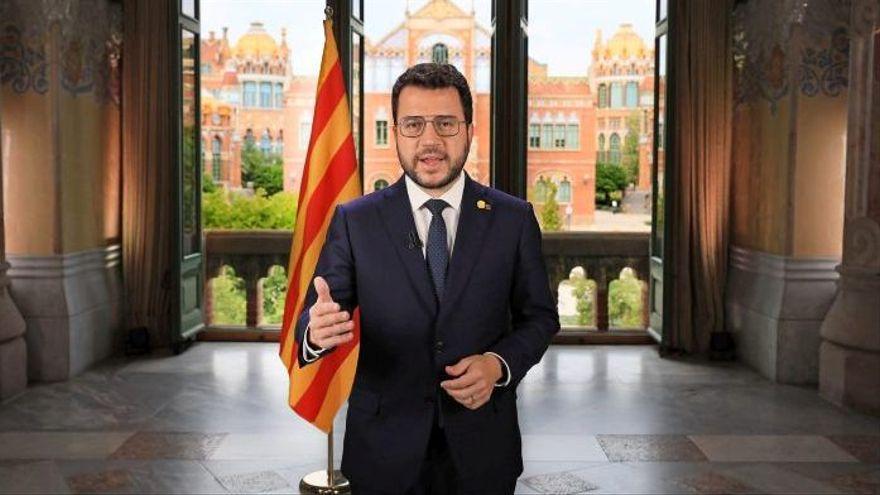 """Aragonès llama a """"unir fuerzas"""" para lograr el referéndum en la mesa de diálogo"""