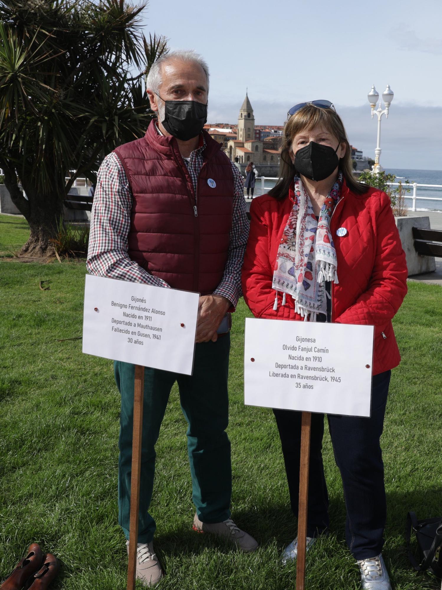 Homenaje a las víctimas de nazismo en Gijón