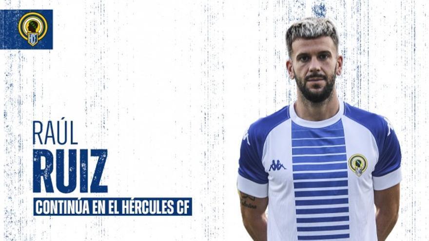 Raúl Ruiz se queda en el Hércules