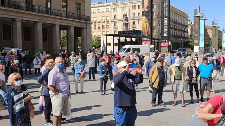 Pensionistas aragoneses viajarán a Madrid para protestar
