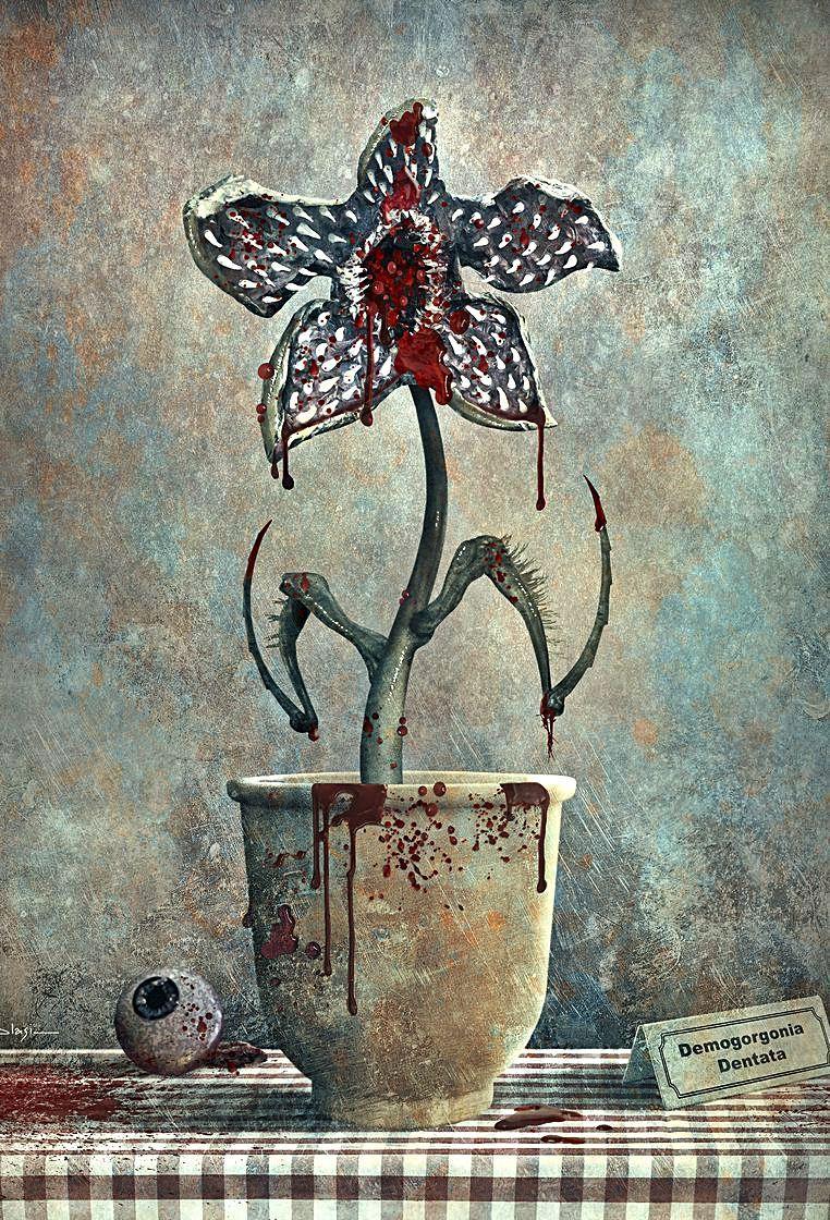 Obra de Blasi inspirada en 'Stranger Things'.
