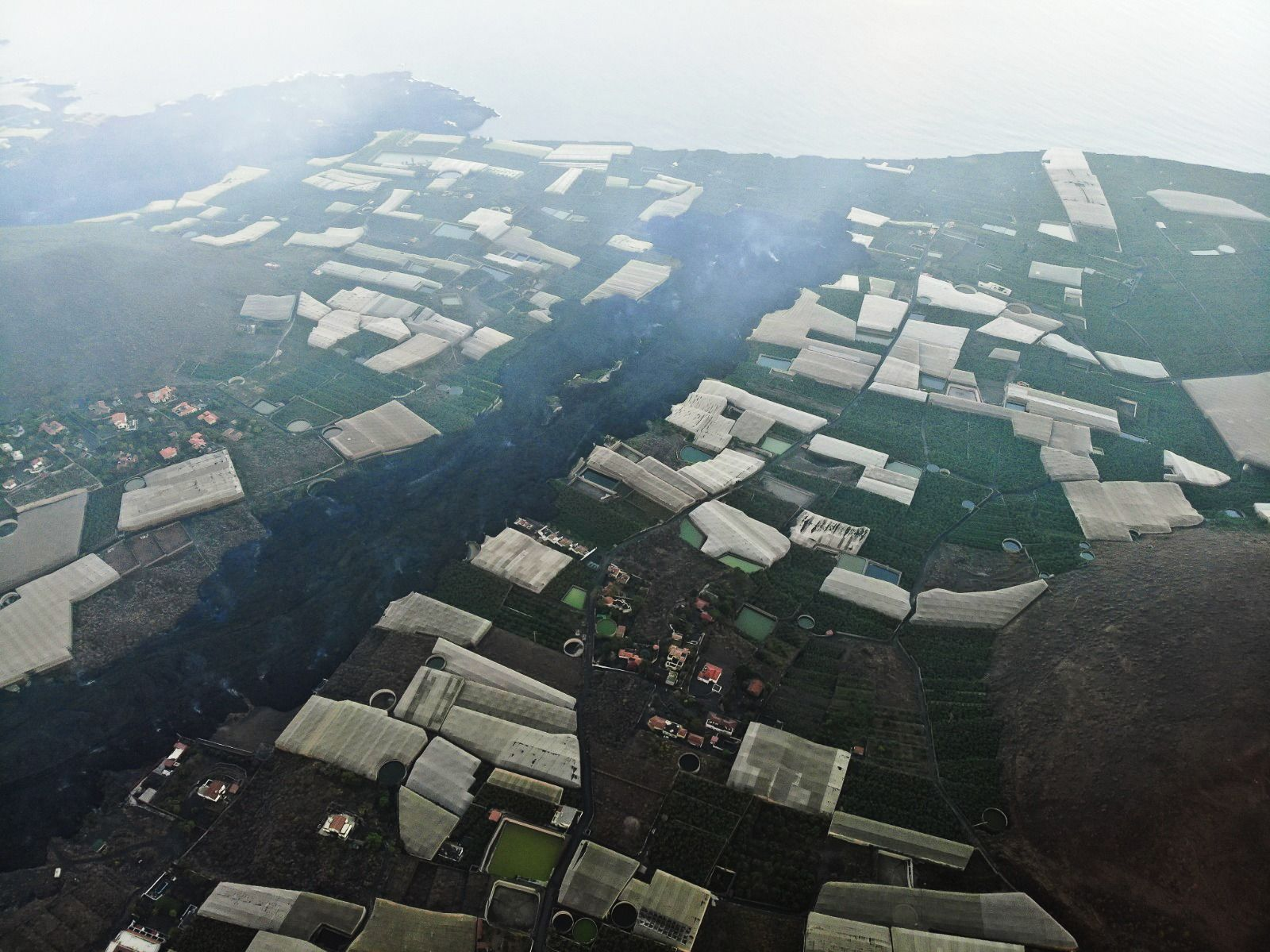 Avance de la colada del volcán de La Palma