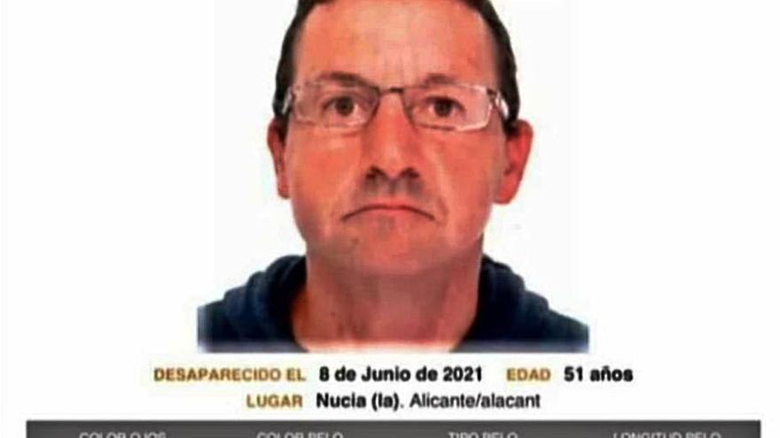 Piden colaboración para localizar a un desaparecido en La Nucía el 8 de junio