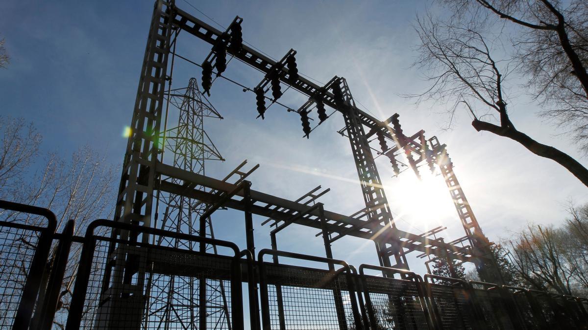 Una central de energía eléctrica.