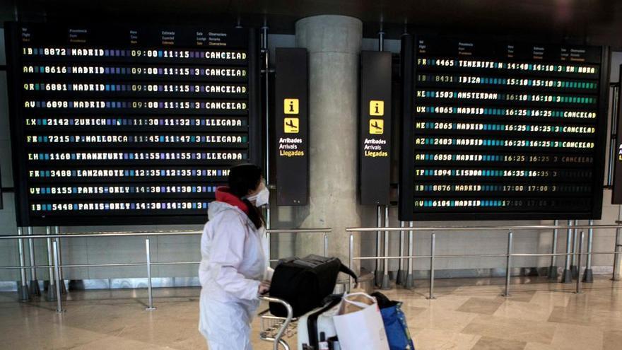 El tráfico aéreo cayó un 60,4% en 2020 por el coronavirus