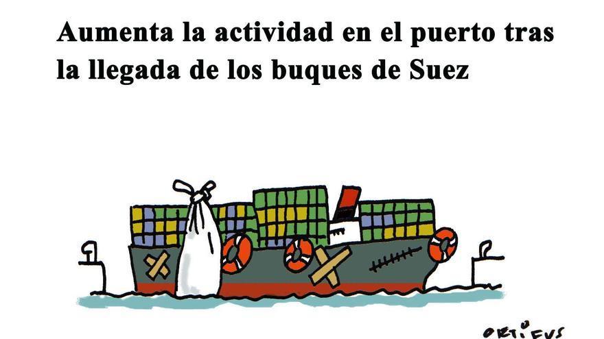 Aumenta la actividad en el puerto con la llegada de los buques de Suez
