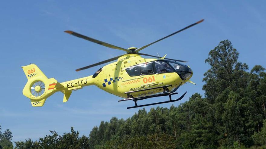 Trasladado en helicóptero un menor atropellado en Vilar de Santos