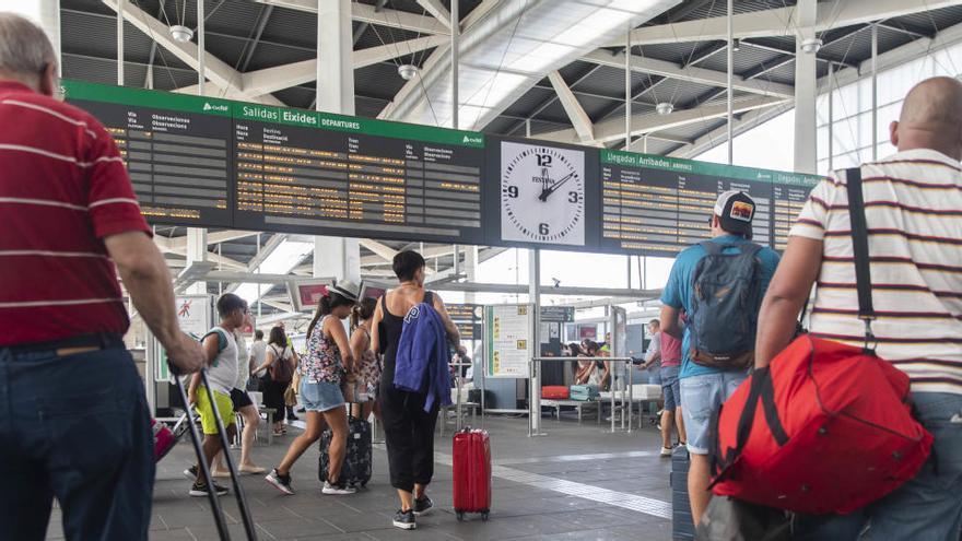 Estación de Renfe en Valencia.