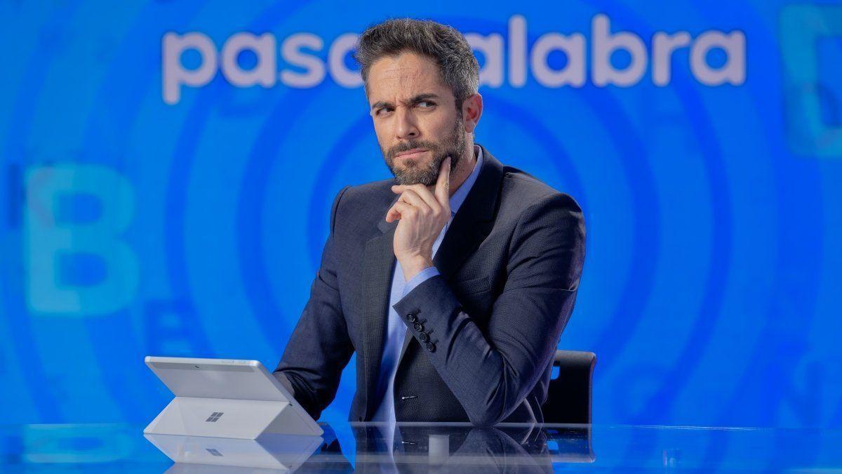 Roberto Leal, en el plató de 'Pasapalabra'
