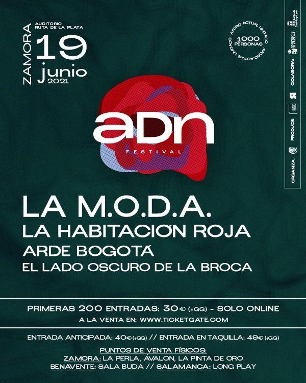 Cartel del Festival ADN en Zamora.