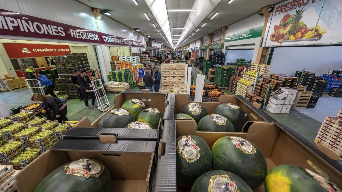 Zona de venta del Mercado de Furtas y Hortalizas, el que más ha aumentado sus ventas.