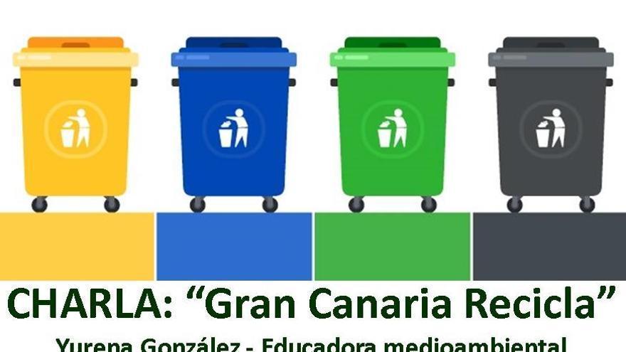 Los colectivos Iniciativa Impulso Valleseco Verde y La Vinca dan una charla sobre reciclaje