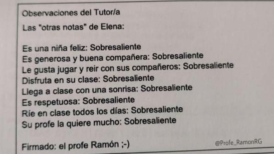 """Un professor de Sevilla conquesta  les xarxes amb les seves """"altres notes"""""""