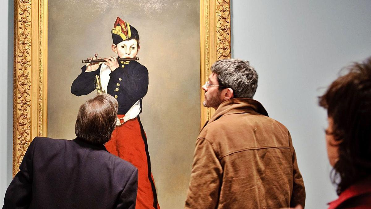 """""""El pífano"""", obra de Édouard Manet, en una de las exposiciones históricas organizadas por la Fundación Mapfre en Madrid."""