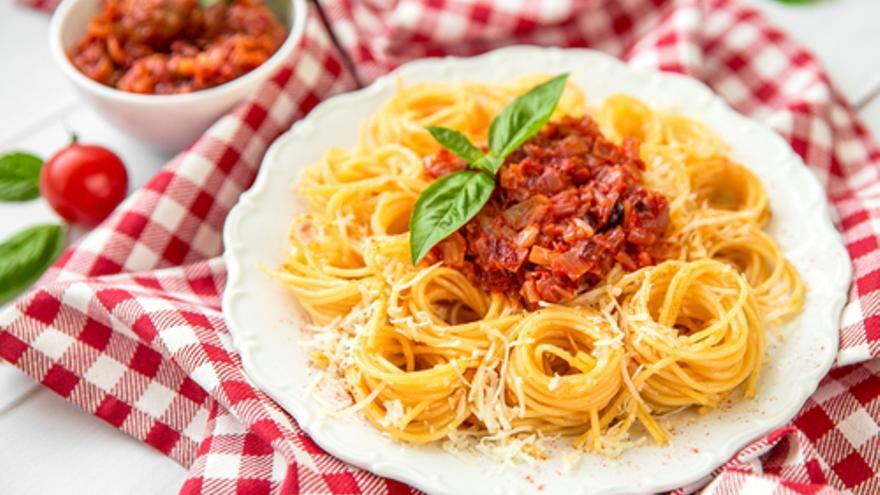 Fetuccini a la boloñesa