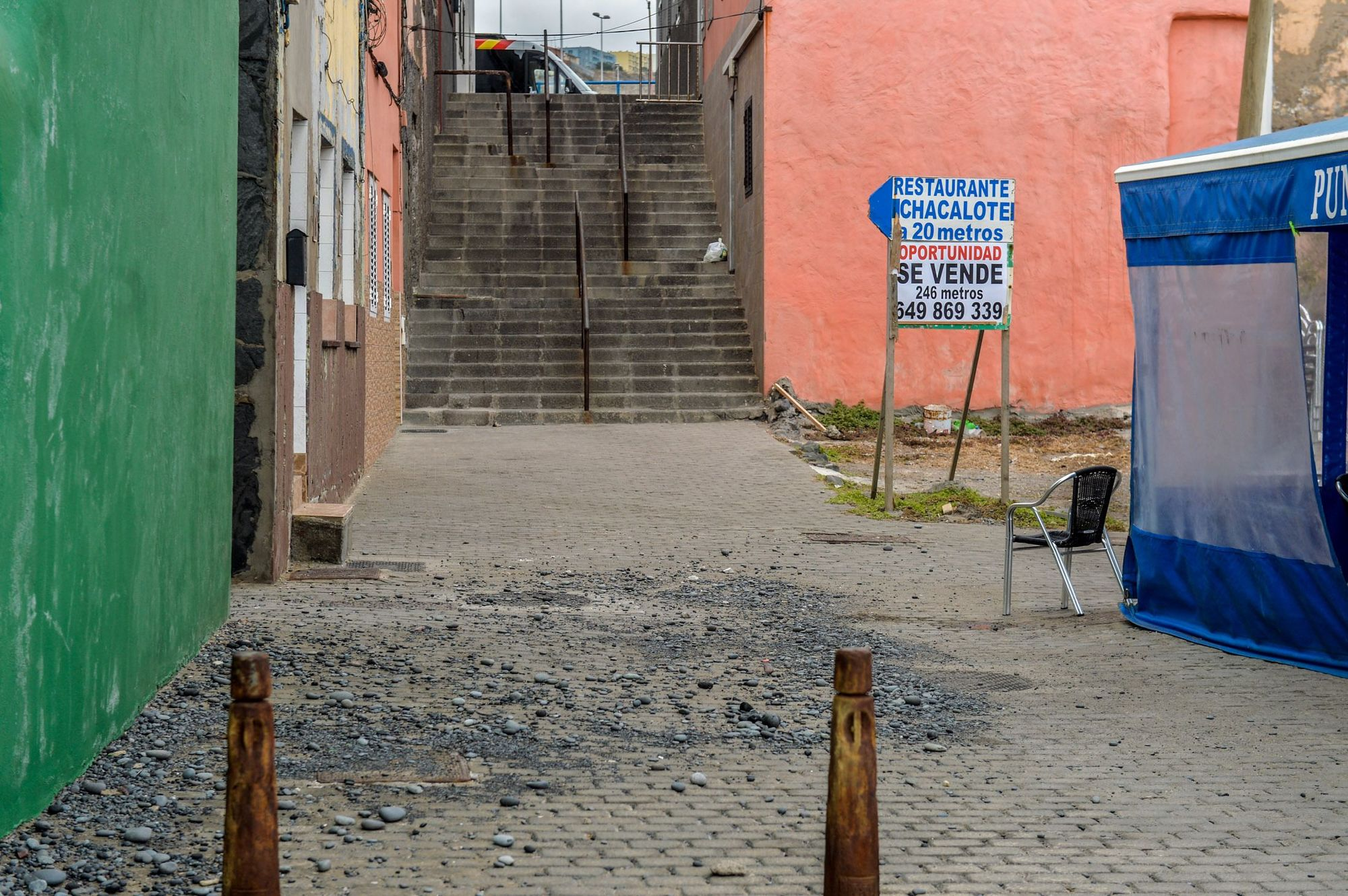 El barrio de San Cristóbal tras el temporal
