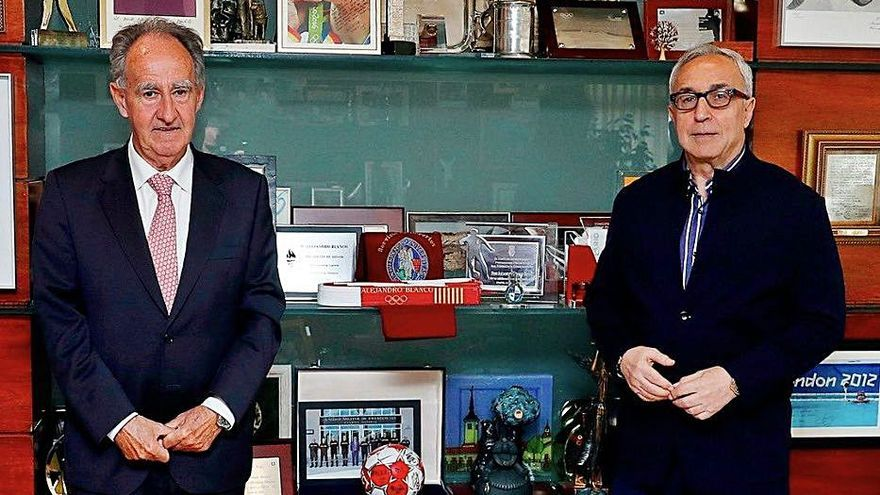 El presidente de la RFEV Javier Sanz se reúne con Alejandro Blanco