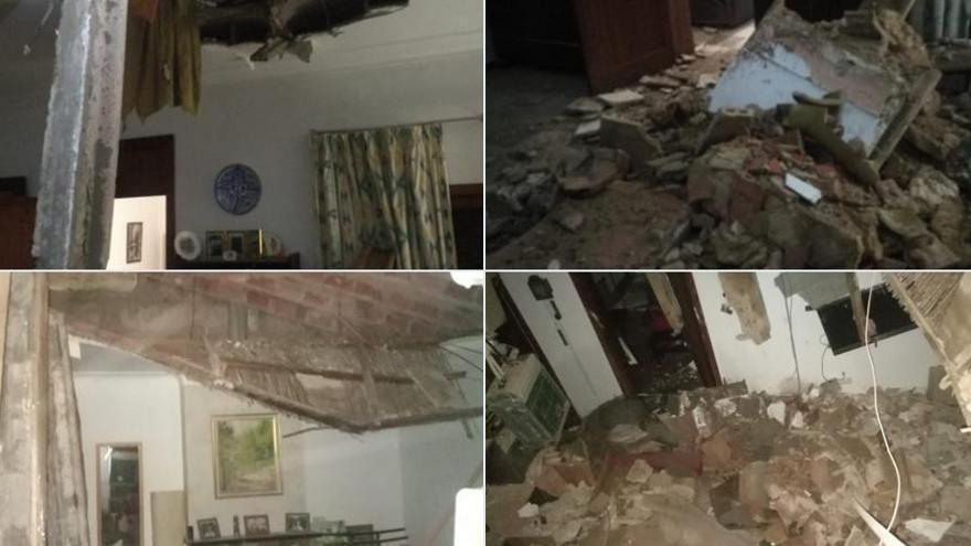 Decke von Wohnhaus in Palma de Mallorca eingestürzt