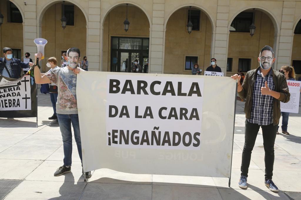 Protesta de los hosteleros de la Explanada