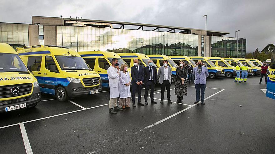 Renuevan la flota de 45 ambulancias que asisten al Clínico y a centros sanitarios