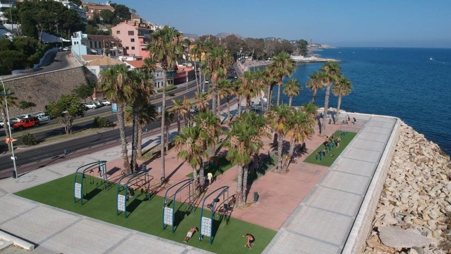 Málaga estrena un novedoso street workout en El Morlaco