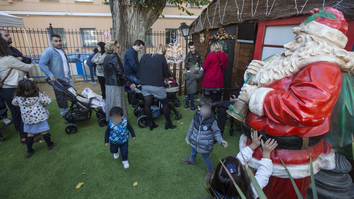 Imagen de la casa de Papá Noel el pasado año en el Panteón de Quijano