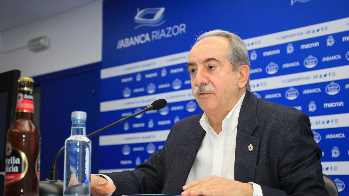 Antonio Couceiro, esta mañana en su comparecencia.
