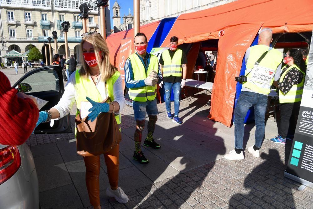 Cadena solidaria para donar alimentos en A Coruña