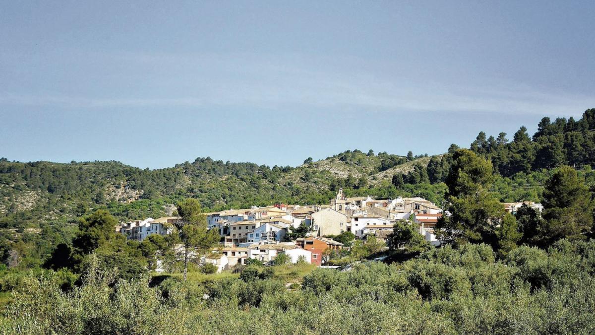 Vista del pueblo de Benimassot.