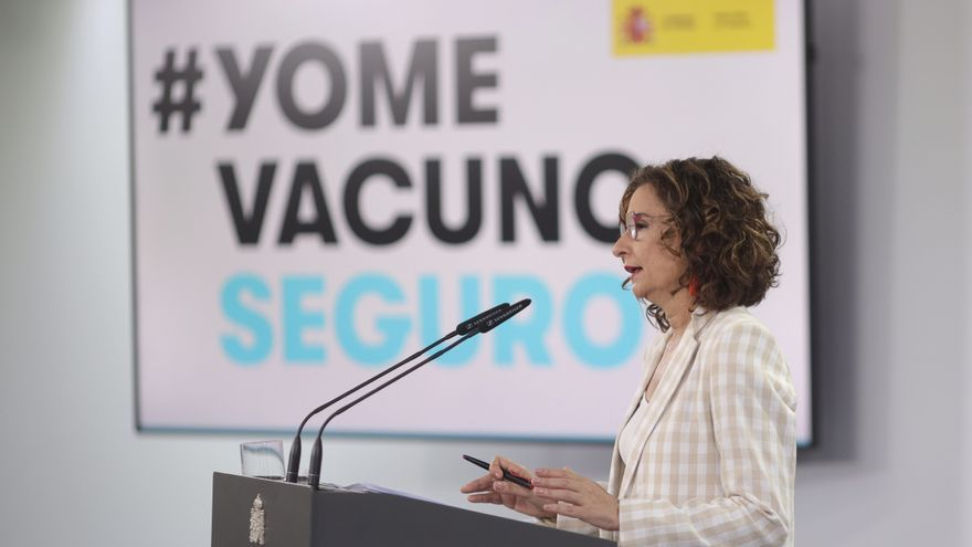 María Jesús Montero comparece tras la aprobación de los indultos a los presos del procés