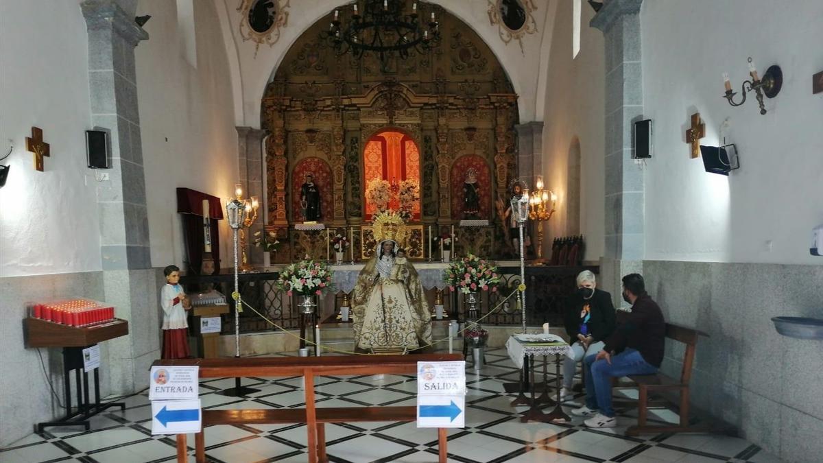 Imagen de la Virgen de Los Remedios de Belmez.