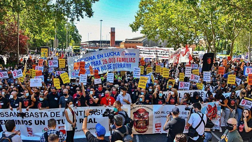 Protesta de treballadors de Nissan a Madrid