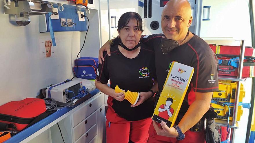 Salvan a una mujer en Pego con un dispositivo antiatragantamiento