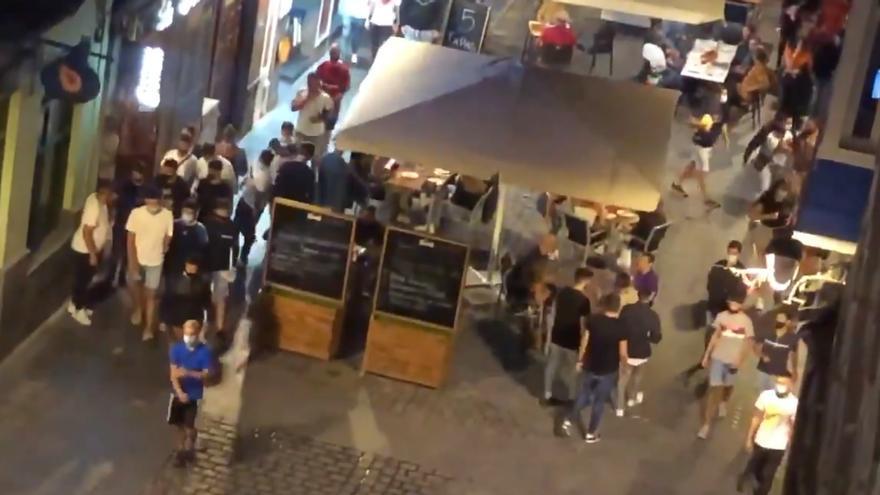 Denuncian el trasiego de gente en Vegueta