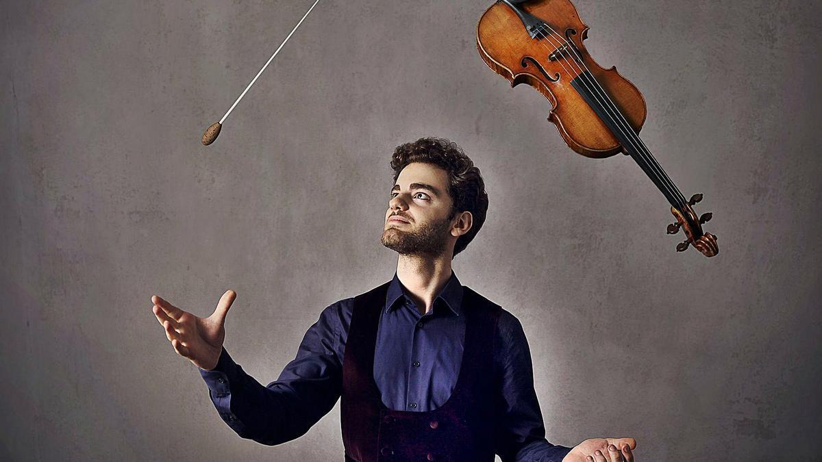 El joven violinista Emmanuel Tjeknavorian .     EL DÍA