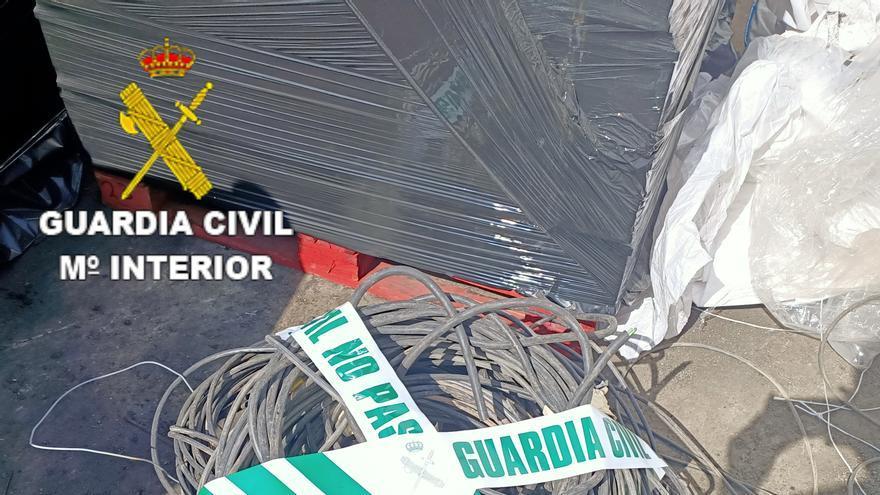 Tres detenidos en Gran Canaria por robar 650 kilos de cobre