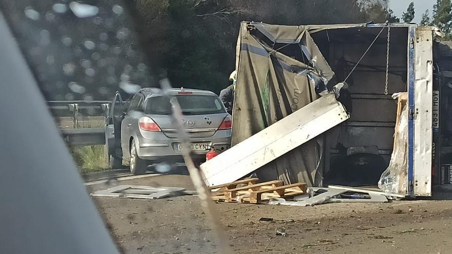 """Dos heridos leves en sendos accidentes en la autopista """"Y"""" en Tabaza"""