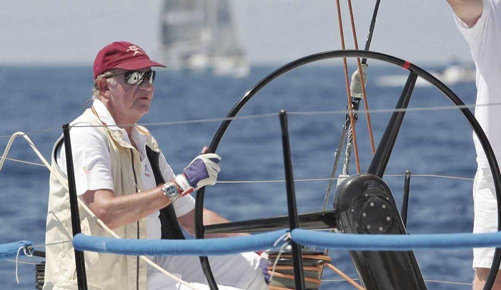 Juan Carlos durante la regata Breitling.