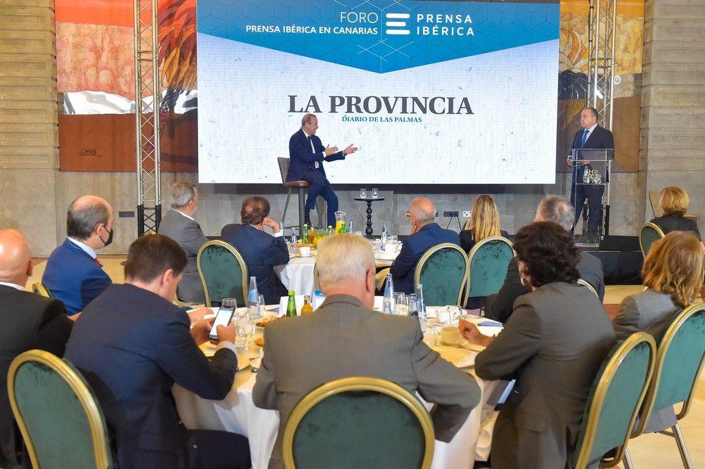 Augusto Hidalgo, en el Foro de Prensa Ibérica en Canarias
