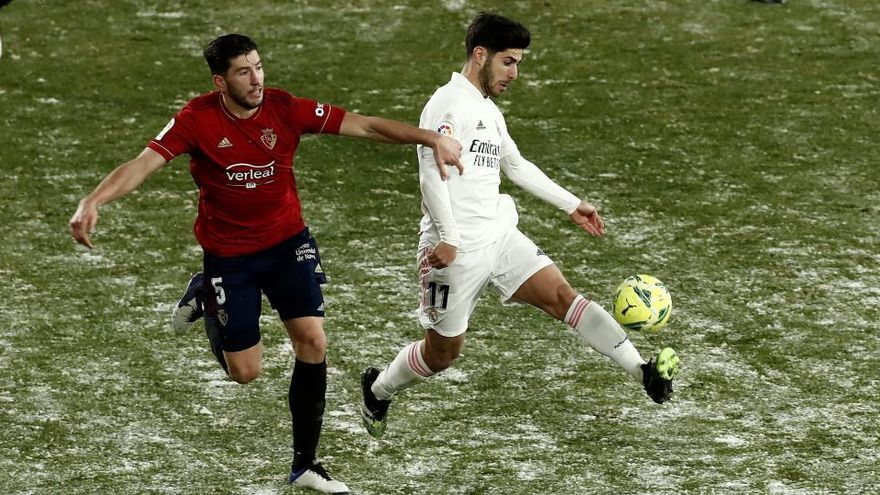 El Madrid se congela ante el Osasuna