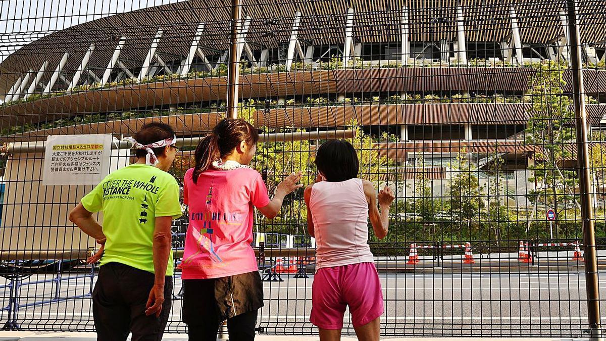 L'Estadi Olímpic de Tòquio des de fora